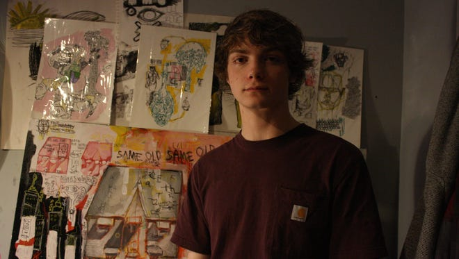 Vestal High School junior Phoenix Kacyvenski, 16, has been creating artwork since the age of 6 and has won multiple art competitions.