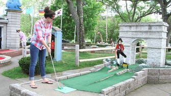 The holes at Around the World, a miniature golf course in Lake George, N.Y., are based on the original builder's global travels, complete with a Napoleon hole with a guillotine.