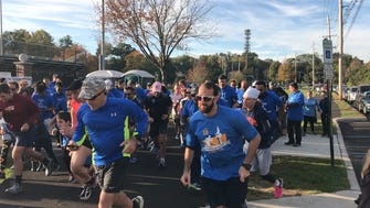 Runners start off the Teaneck 5K Walk/Run for Children's Cancer on Oct. 22 in Votee Park in Teaneck.