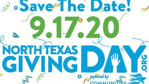 North Texas Giving Day, an 18-hour online marathon designed to empower every person to support local nonprofits and other worthwhile causes, kicks off Thursday, Sept. 17.
