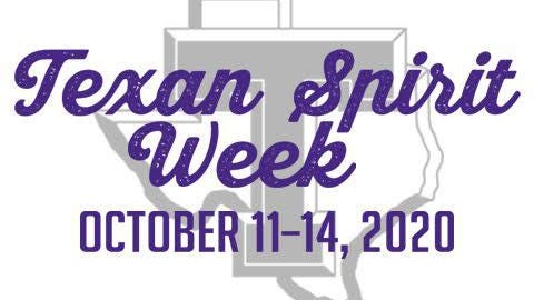 Texan Spirit Week, a reimagining of the yearly campus celebration, begins Sunday, Oct. 11, with the 7 p.m. Lighting of the Smokestack and announcement of the spring 2021 Homecoming Court.