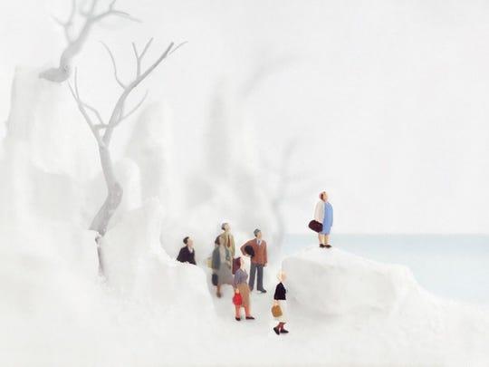 "Walter Martin and Paloma Munoz, Inside of snowglobe from ""Snowbound."""