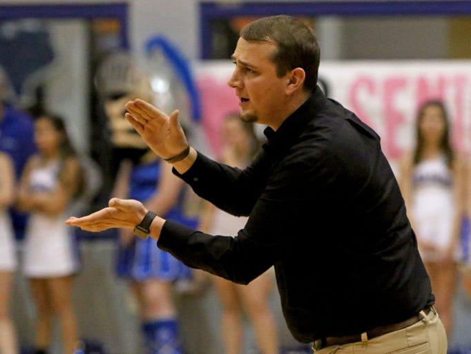 Archer City head boys basketball coach Andrew Morris