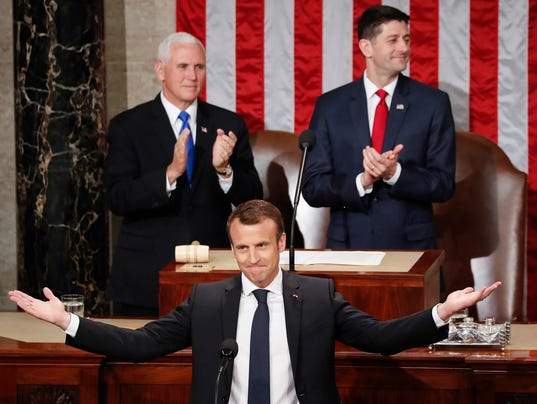 Emmanuel Macron,Mike Pence,Paul Ryan