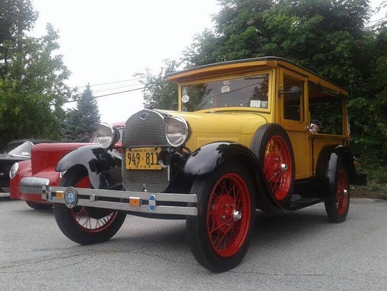 A 1929 Ford Huckster at the annual Car, Truck and Bike