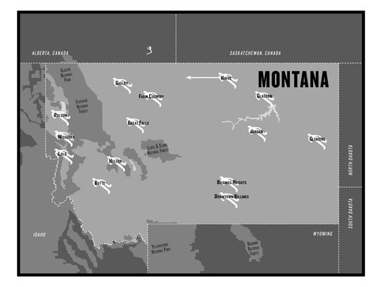A map of Montana will be fixed for the second edition