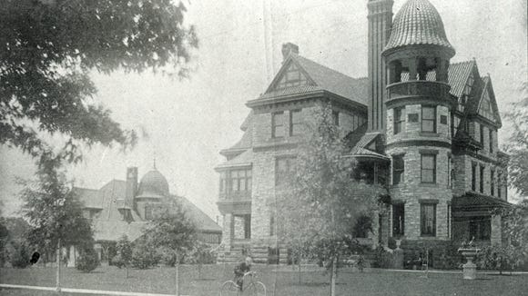 Brewery owner Theodore R. Helb's lived here, at the southwest corner Market Street and Richland Avenue. The carriage house, left, stands today - in 2016. The mansion is gone. This beautiful structure did not give way to a parking lot. But a gas station went up there, another nod to the vehicle culture that spelled the end to so many architecturally significant York buildings.