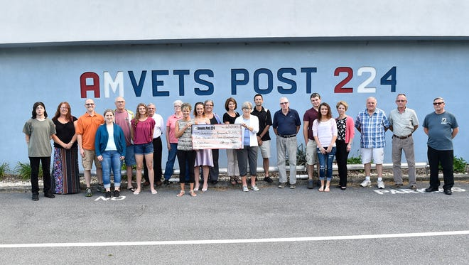 The AMVETS awarded 13 local students each wirh $2500 scholarships - $30,000 total. Students awarded wwere Shyann Watson, Paige Kaetzel, Emily Whitfield, Cameron Dale, Mikayla Hearne, Bryce Schaeffer, Elllis Sprow, Chloe Daywalt, Chloe Fisher, Haylee Holsopple, McKenzie Gamble, Kristen Pugh and John Danzberger.