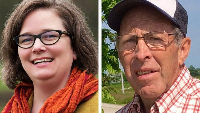 Sarah Lloyd (left) and W. Michael Slattery (right) are running in the Democratic primary for the 6th Congressional District, held by Repubican Glenn Grothman.