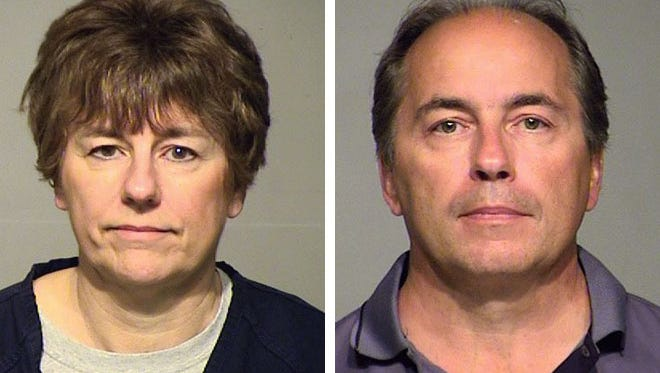Jan Drzewiecki (left) and Jay Yakich (right) were jailed for contempt during a court hearing in a years-long legal fight with their siblings over their late father's multimillion-dollar estate.