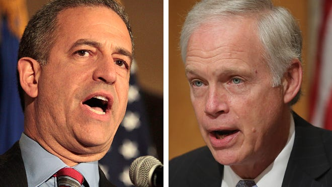 Former Sen. Russ Feingold (left) and incumbent Republican Sen. Ron Johnson are facing off in a rematch this November of their 2010 race, which Johnson won.
