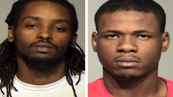Breon K. Williams (left) and Romello Anderson (right) face charges  in a November 2015 fatal shooting while a crowd gathered as two women fought on Galena Street.