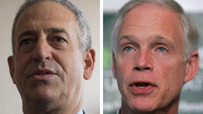 Former U.S. Sen. Russ Feingold (left), a Democrat, is challenging incumbent Republican Ron Johnson (right).