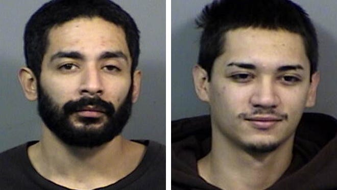 Anthony DeLeon (left) and Mitchell Gamroth (right) are charged in a pair of gas station robberies in Waukesha.