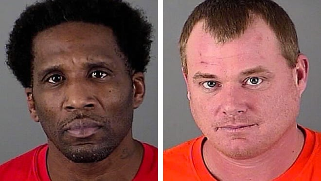 Vincent E. Daniels (left) and Travis D. Heath (right) are charged in the theft of two chalices from St. Joseph's Catholic Church in Waukesha.