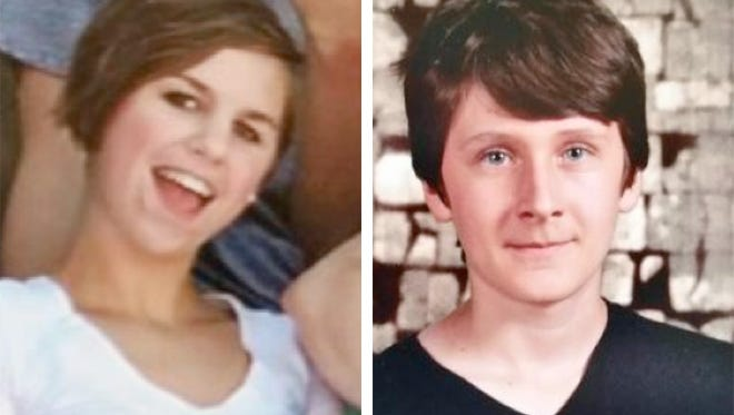 Paige Williams, 13, (left) and Samuel Larson, 14, (right) have been reported missing from the village of Wales in Waukesha County.