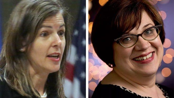 Laura Crivello (left) and Audrey Skwierawski (right)