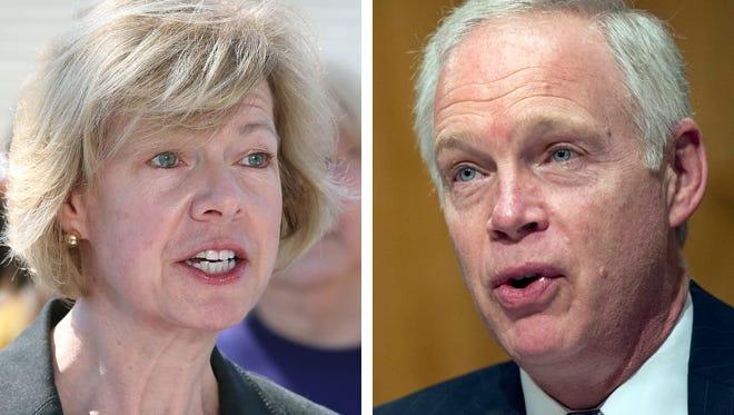 Wisconsin's U.S. senators Tammy Baldwin (left), a Democrat, and Ron Johnson, a Republican.
