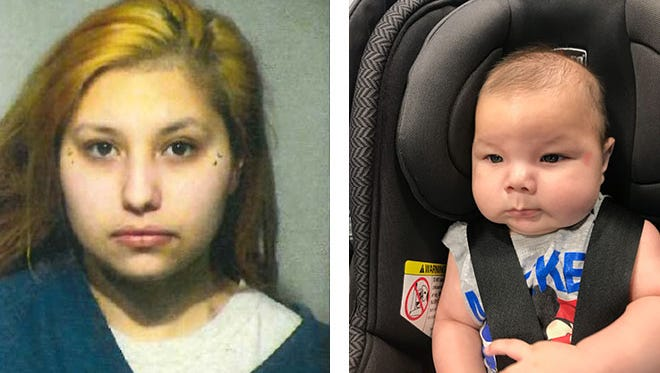 Milwaukee police identified Tammy P. Mann (left), 23, as a person of interest regarding an infant found abandoned in the city.