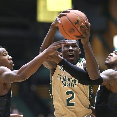 CSU forward Emmanuel Omogbo pulled down 19 rebounds
