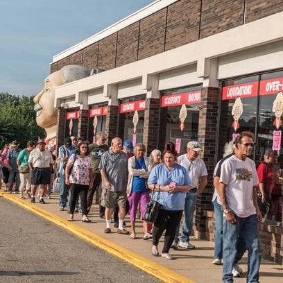 More than 100 people were in line Wednesday morning
