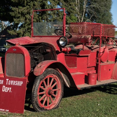 A 1919 Chevrolet Fire Truck which was Burlington's