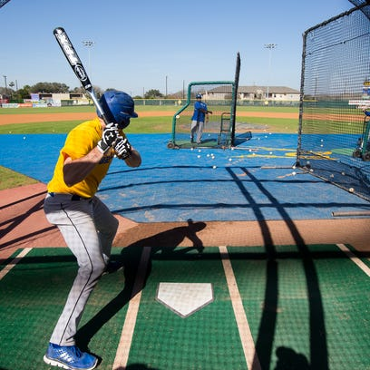 Texas A&M-Kingsville's Christian Caudle bats during