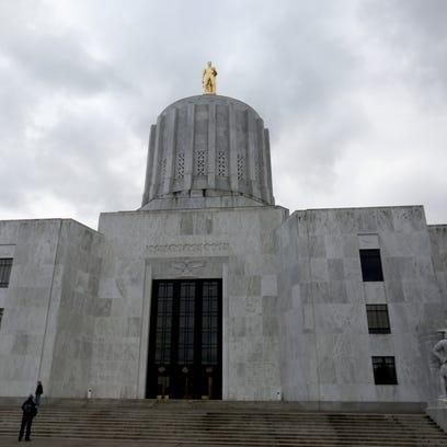 The Oregon State Capitol in Salem on Thursday, Jan.