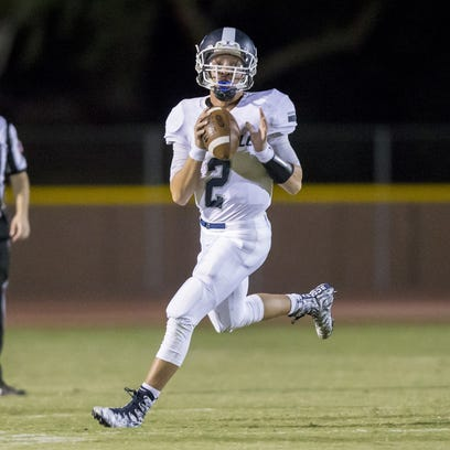 Quarterback Spencer Rattler of Pinnacle during the
