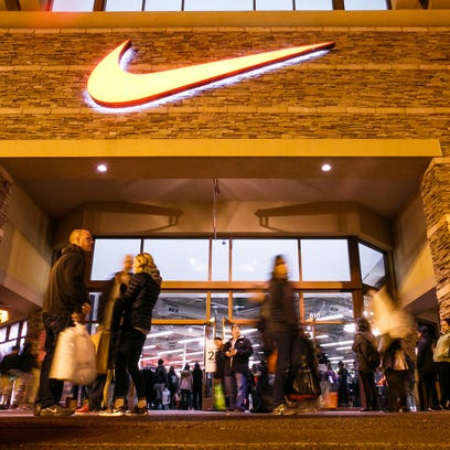 Nike is a popular destination for deals at the Woodburn