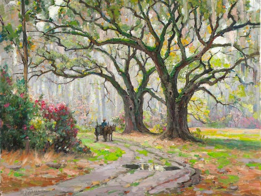 "Anthony Johannes Thieme's ""Entrance to Magnolia Gardens in Spring"" is one of the works of art in the exhibit ""Scenic Impressions: Southern Interpretations from the Johnson Collection."" The exhibit opens May 4 at the Knoxville Museum of Art."