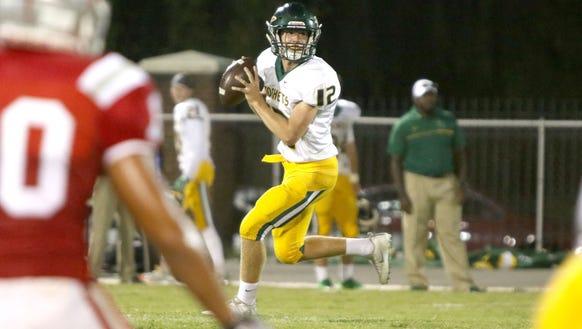 Reynolds quarterback Nathan St. Onge.