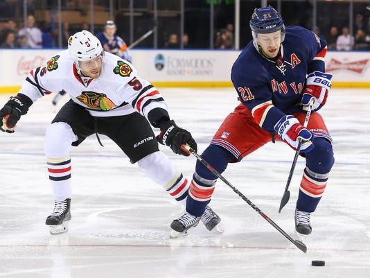 NHL: Chicago Blackhawks at New York Rangers