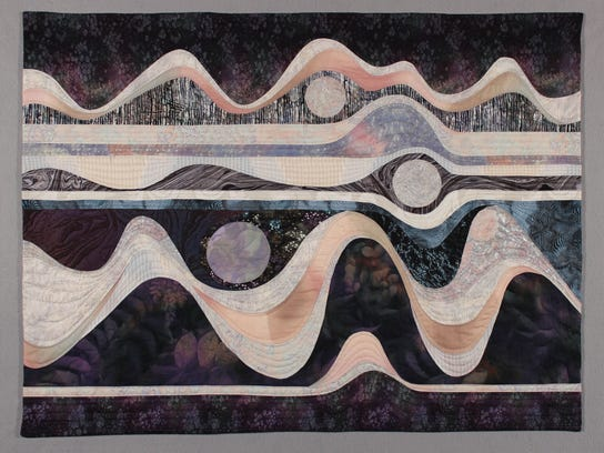 Judy B. Dales, Lunar Reflections, 2015. Cotton, poly-cotton