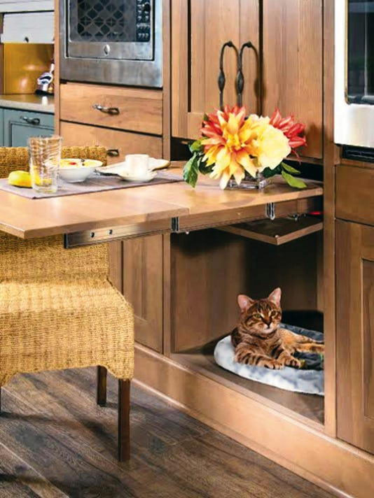 Courtesy photoArchitectural details, such as the cat nook pictured here, offer clever ways to provide pet-friendly function to any room.