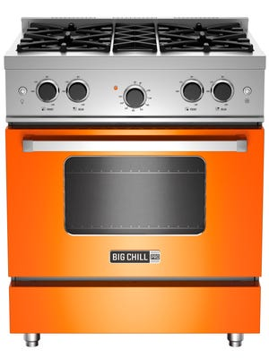 This photo provided by Big Chill shows a Pro range in orange.