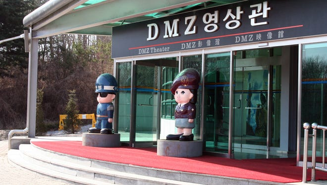 The demilitarized zone, as a tourist attraction, is a mix of harsh and cartoonish contrasts.