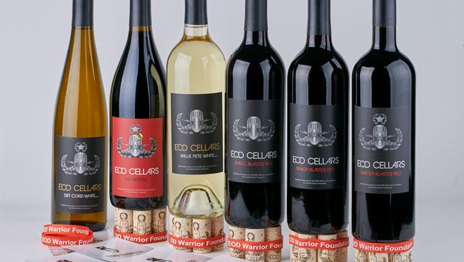 A selection of wines from the Tackitt Family Vineyards' EOD Cellars label.