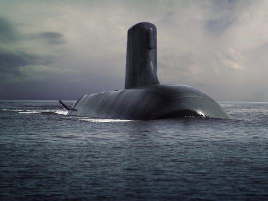 DCNS Shortfin Barracuda submarine surfaced