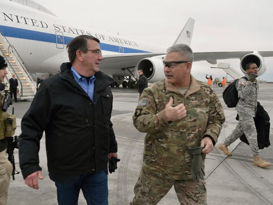 Secretary of Defense Ash Carter, Gen. John Campbell