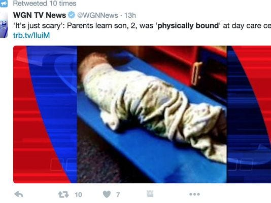 Parents Say Son Physically Bound During Naps At Daycare