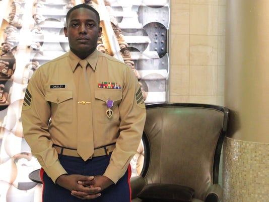 Marine, Chattanooga shooting victim receives Purple Heart Medal