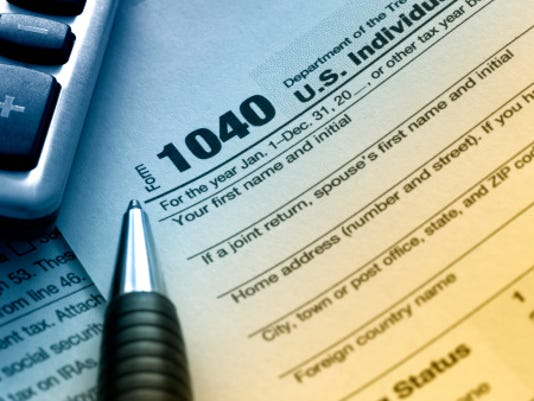 Tax form file photo stock generic taxes