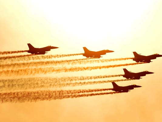PERFOR fuerza aérea surcoreana KF-16 jets
