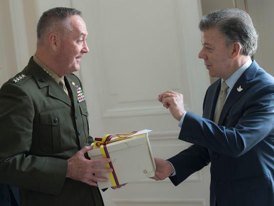 Gen. Joseph Dunford visits Colombia