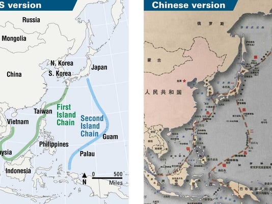 China Island Chains Map (use this)