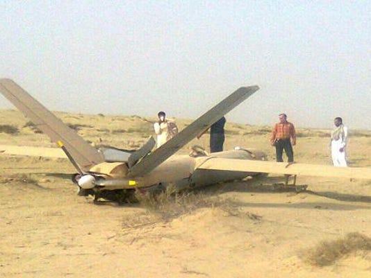 Shahed 129 Crash