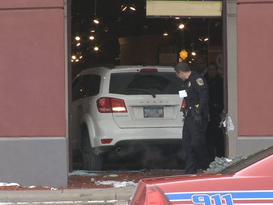 Car drives into Slumberland in Fridley