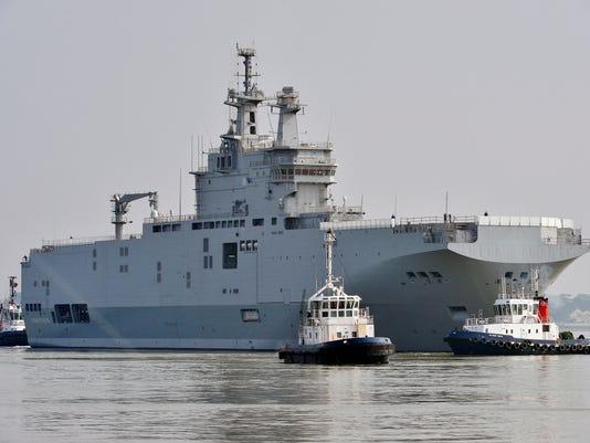 Mistral warship Sevastopol