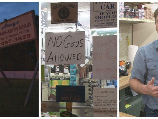 Tennessee hardware store puts up 'No Gays Allowed' sign